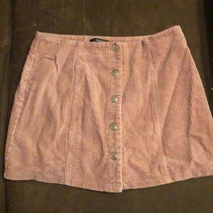 Button down corduroy style skirt